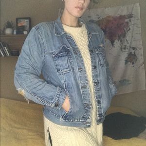 Jean Jacket With Yellow Patches
